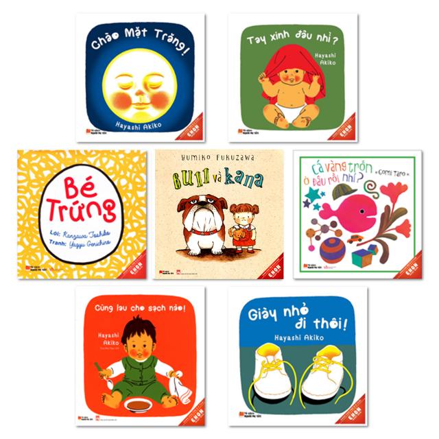 Sách - Combo 7 cuốn Ehon Dành Cho Trẻ Từ 0 - 3 Tuổi