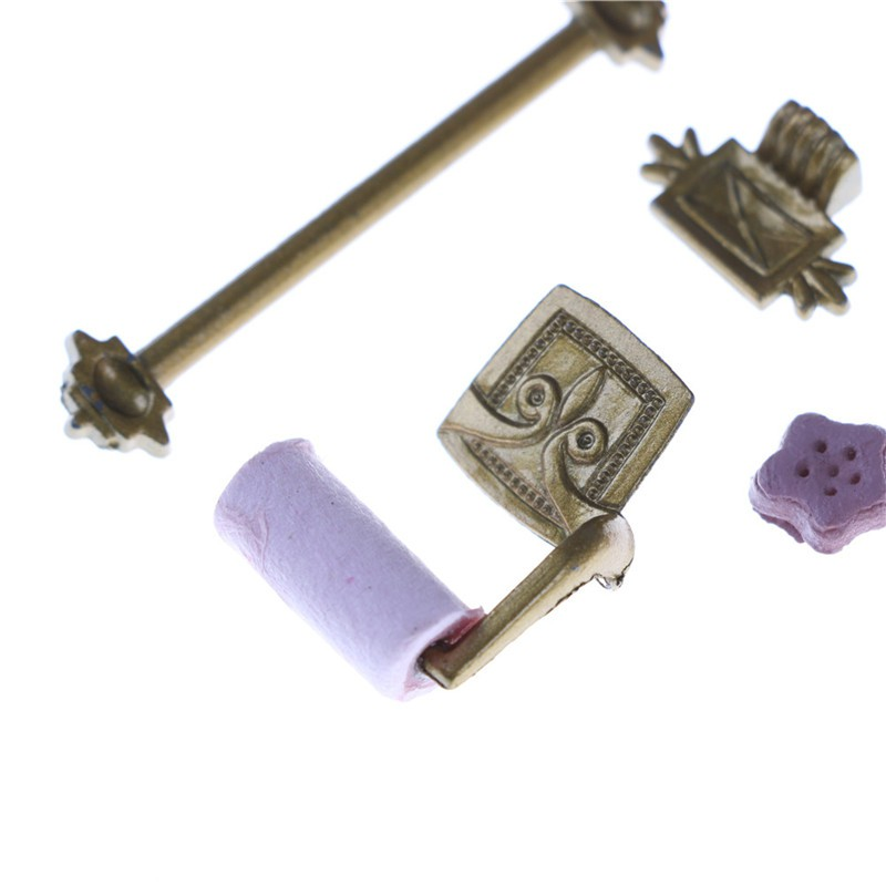 1/12 Scale Dollhouse Miniature Bathroom Accessory Set