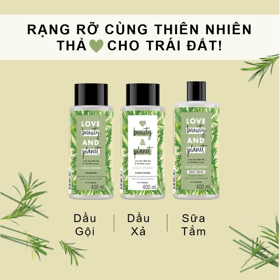 Dầu xả detox và trả lại mái tóc tươi khỏe Love Beauty And Planet Radical  Refresher 400ml | Shopee Việt Nam