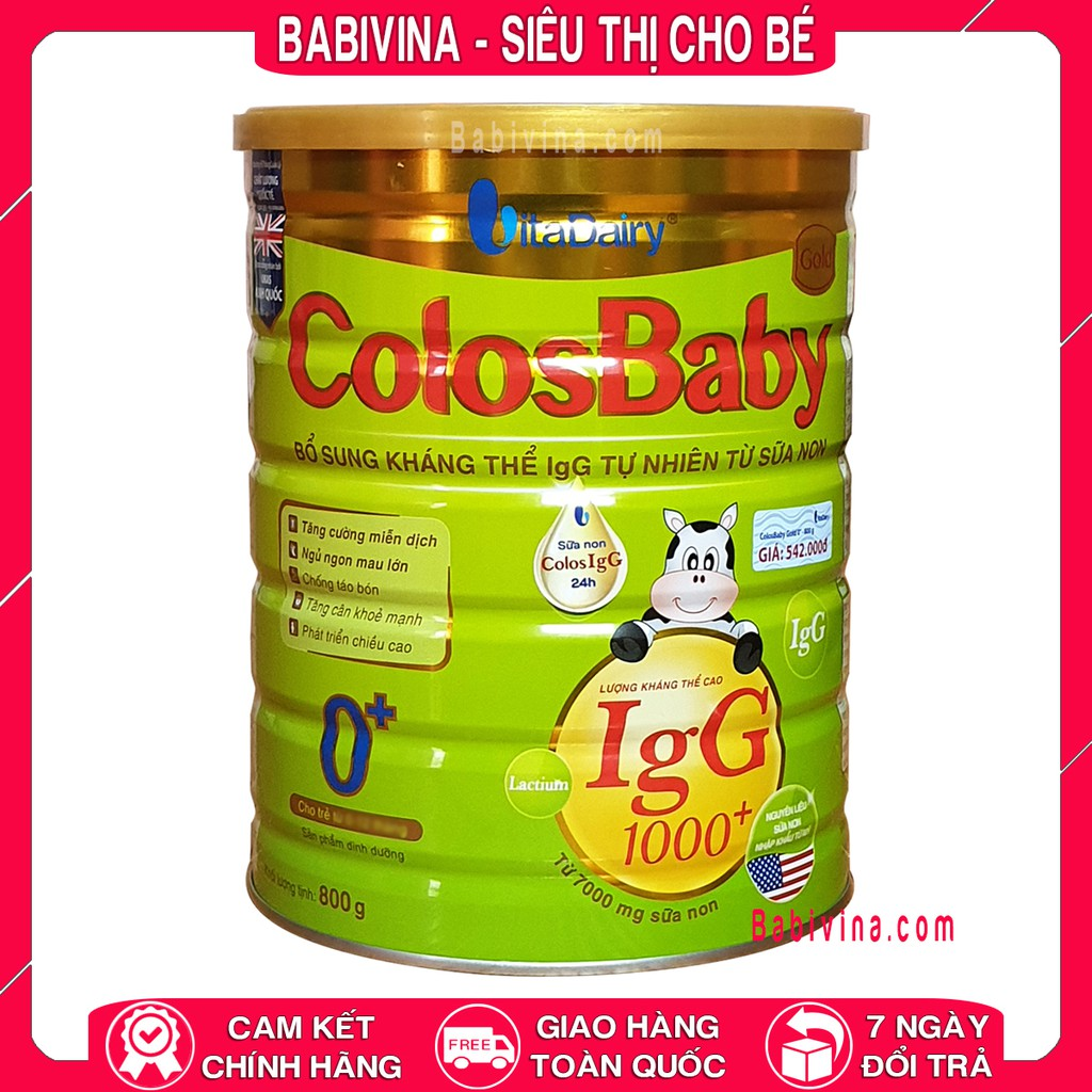[LẺ GIÁ SỈ] Sữa Non Colosbaby Gold 0 400g - 800g 1000 lgG (COLOS BABY)