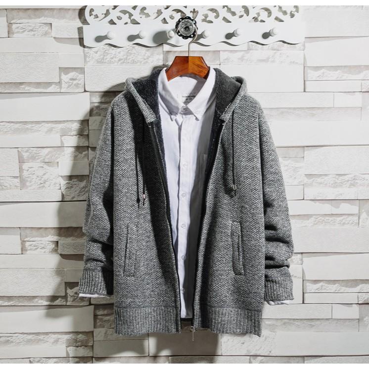 Áo khoác len nam lót lông cừu AL1163
