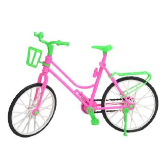 E-TING Green Plastic Detachable Bike Toy Bicycle With Basket doll