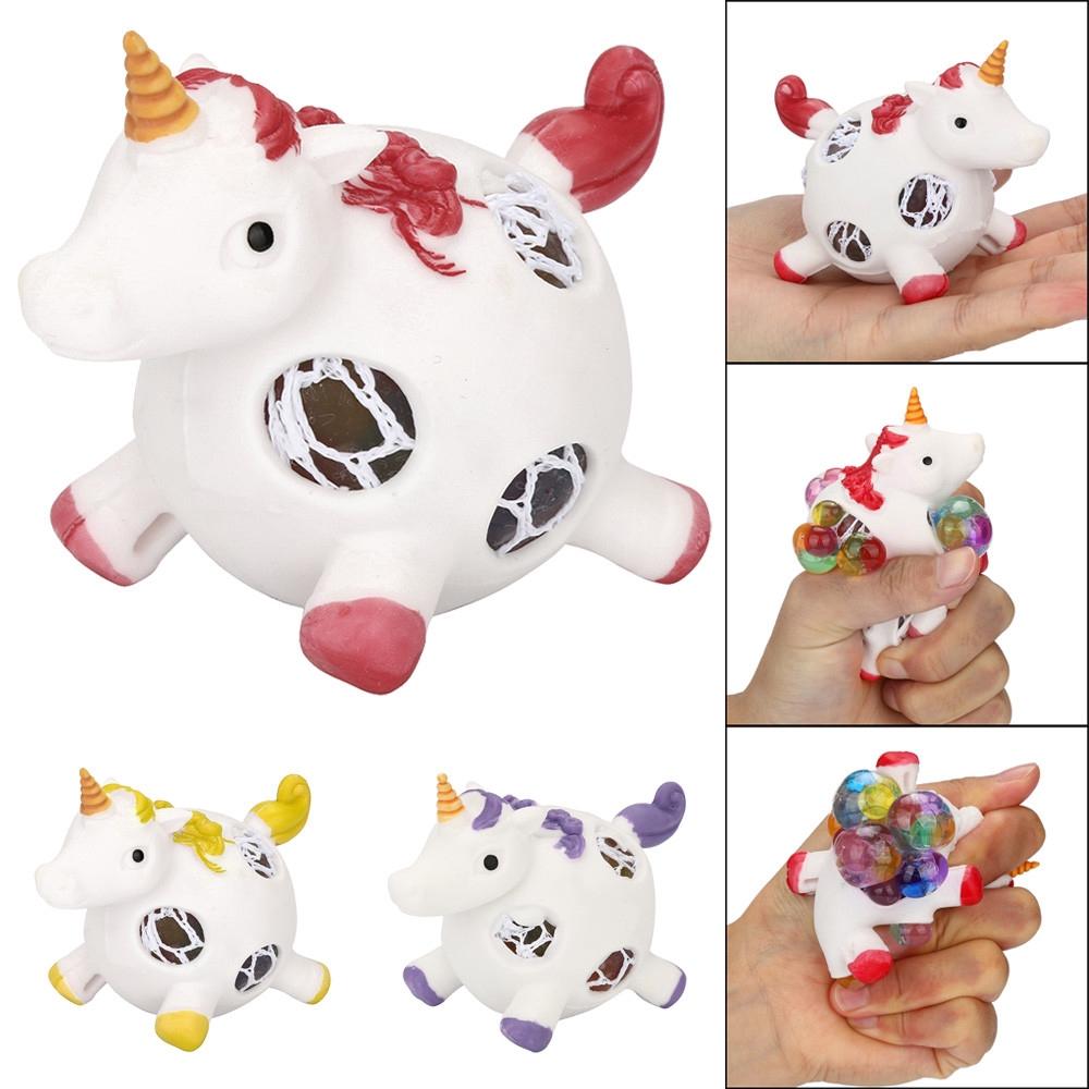 【COD】😺Unicorn Mesh Balll Grape Balls Squeeze Office Stress Relief Toys