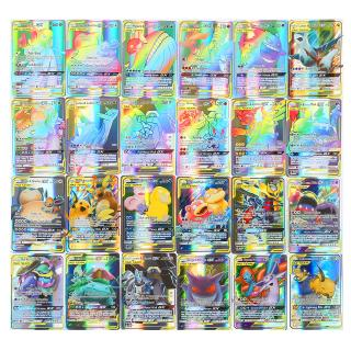 Lot 100 Pieces Pokemon Cards Pack All Holographic 60Tag Team GX+30Mega+10 Trainer