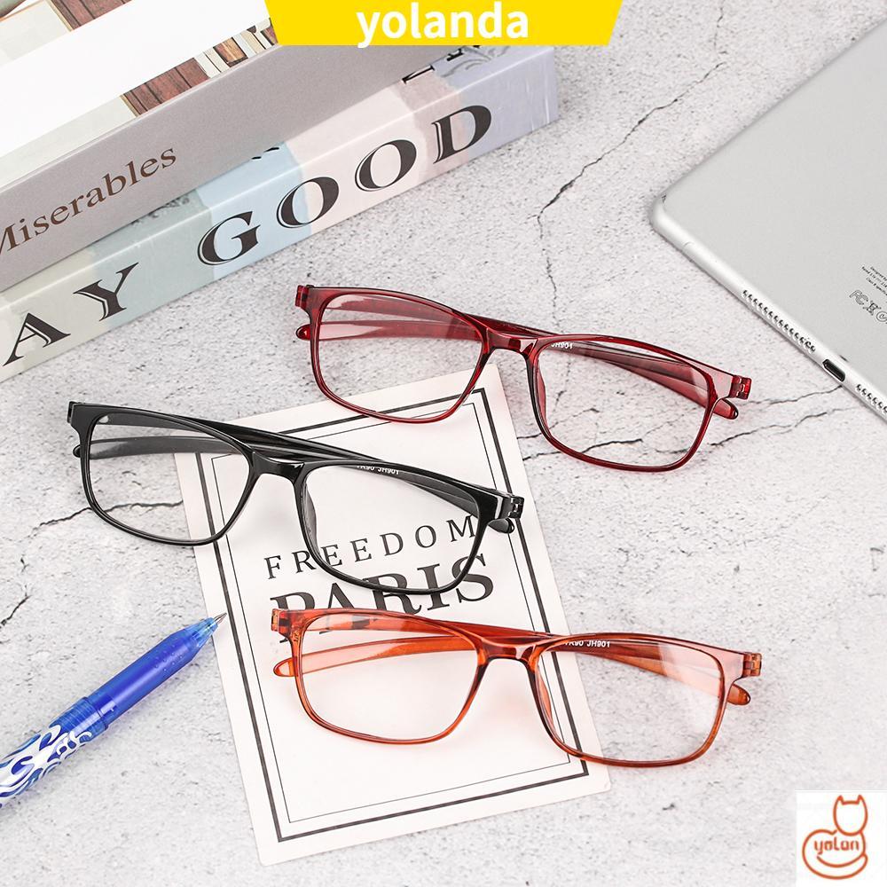 ☆YOLA☆ TR90 Reader Eyewear Fashion Clear Lens Presbyopic Glasses Flexible Ultralight Women Men Retro Reading Glasses/Multicolor