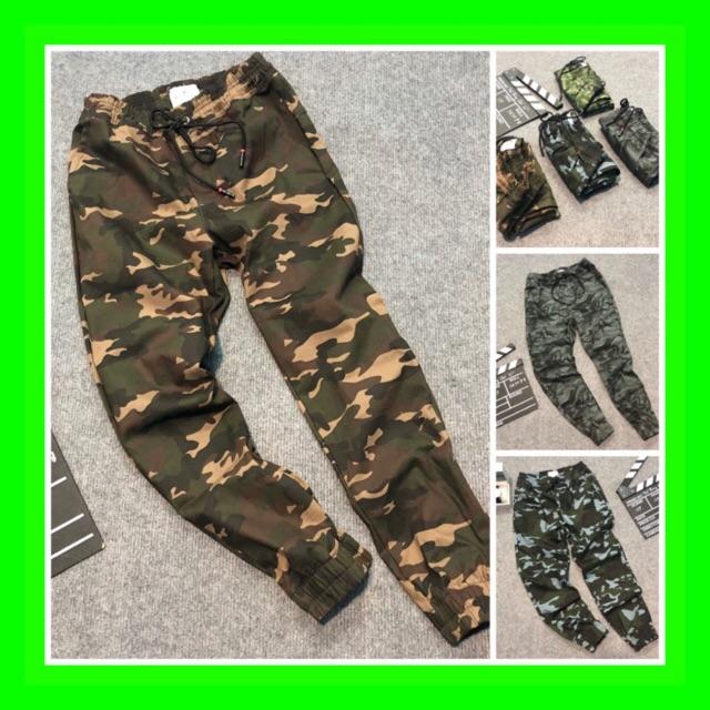 Quần Jogger lính (quần lính ống bo) cực hot chất liệu kaki co giãn bao đẹp bao chất