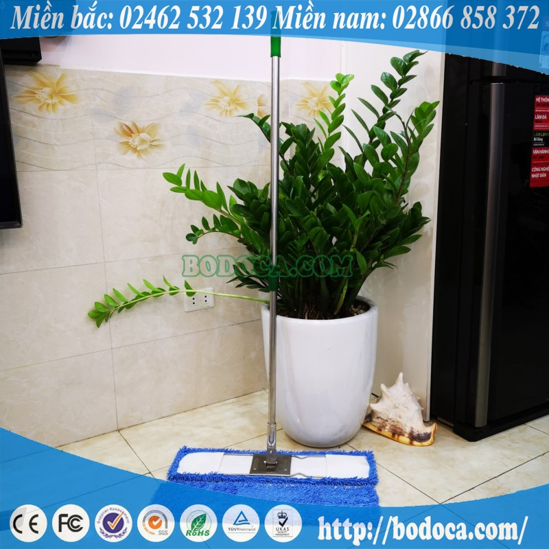 Cây lau nhà siêu sạch inox chữ nhật 60cm Bodoca