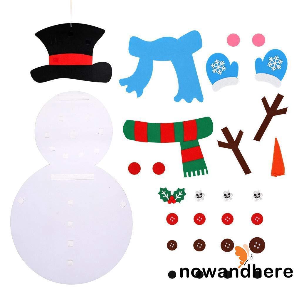 NOE-Christmas Gifts Children Kids DIY Felt Snowman Set Christmas Decorations