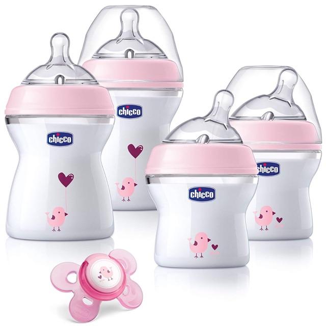 Bộ bình sữa CHICCO newborn (2 bình x 240ml + 2 bình x 150ml + 1 ty