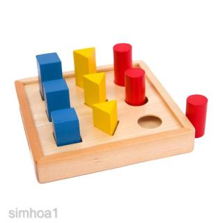 STACK AND SORT BOARD WOODEN EDUCATIONAL SHAPE SORTING TOY NEW