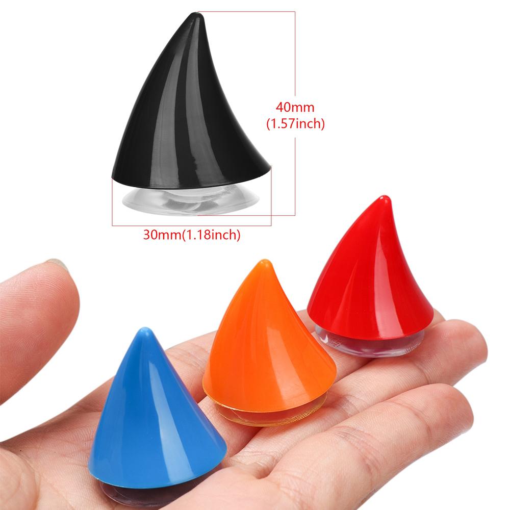 Phụ Kiện Trang Trí Nón Bảo Hiểm Hai Mặt Bằng Nhựa Silicon Mềm 10 Màu Có Giác Hút Tiện Dụng