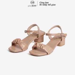 Giày Cao Gót giayBOM Quai Ngang Khóa Cài Cao 4 cm C0016 thumbnail