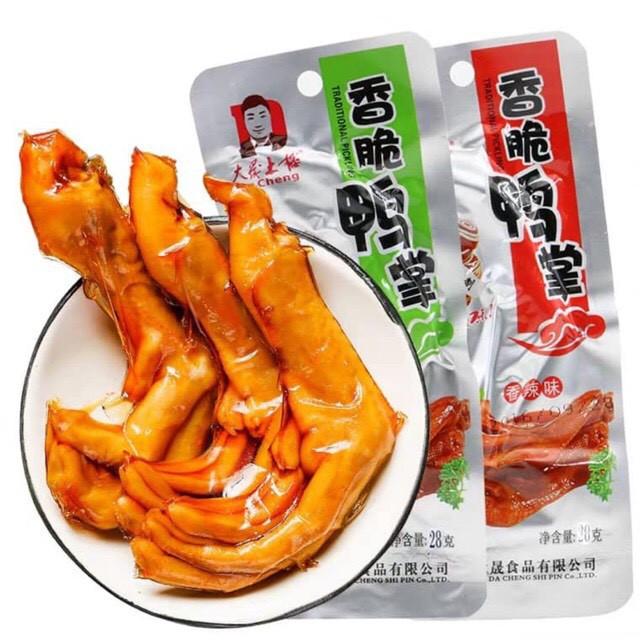 Chân vịt cay dacheng[ loại to 32gr] đồ ăn vặt Trung Quốc