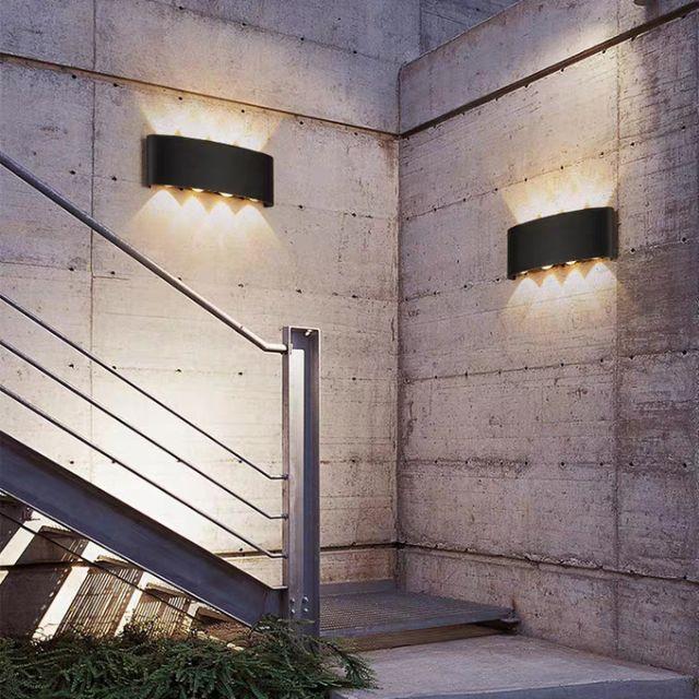 Đèn hắt tường 2 đầu chống nước đèn trang trí nội thất TOMOKI,đèn trang trí ngoài trời, phòng khách, cầu thang, phòng ngủ