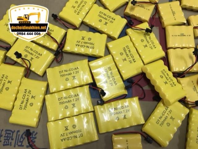 Pin sạc xe đồ chơi điều khiển NICD 7,2VOL-700Mah