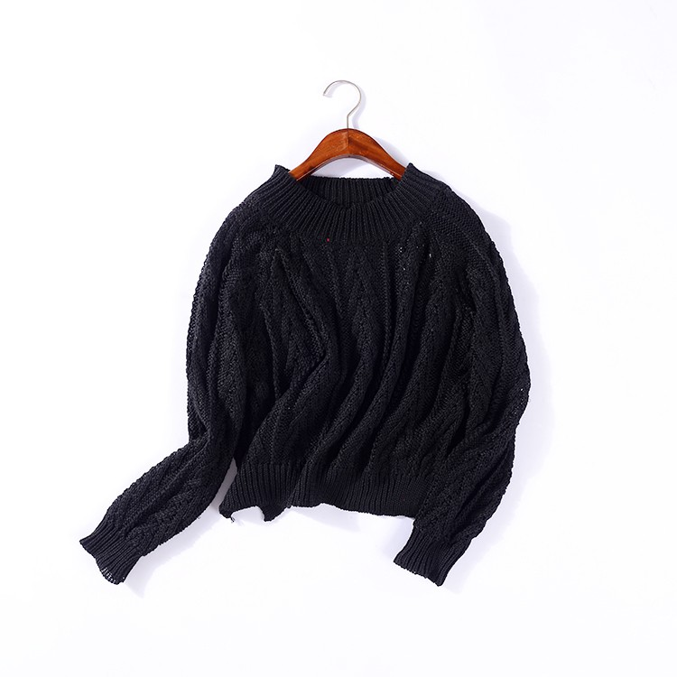[] L@21 black sweater female autumn and winter Korean version of knitted sweater