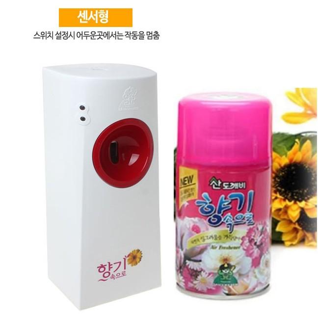 Combo 1 máy xịt phòng tự động Hàn Quốc và 1 chai xịt phòng Sadokabi hương