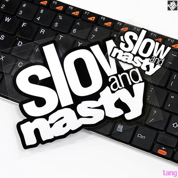 SLOW NASTY slow sound big sticker Car interior decorative reflective decal