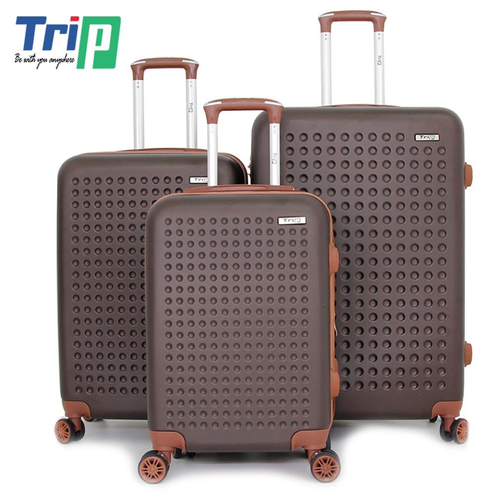 Bộ 3 Vali Nhựa TRIP P803A - Size 50+60+70cm - Màu Nâu
