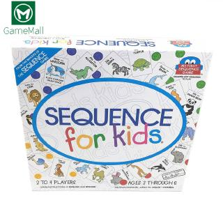 🔯Sequence for Kids Letters Numbers Word Puzzle Card Board Children Family Game