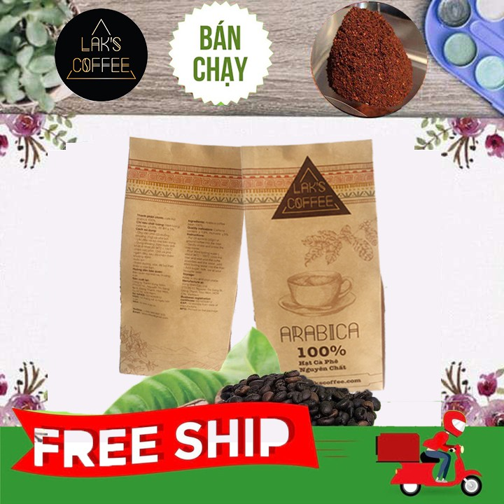 Arabica rang xay nguyên chất Lak's Coffee [500gram/bịch]
