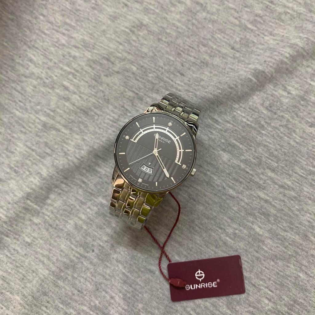 Đồng hồ Sunrise nam chính hãng Nhật Bản M1224SA.D.D - kính saphire chống trầy - bảo