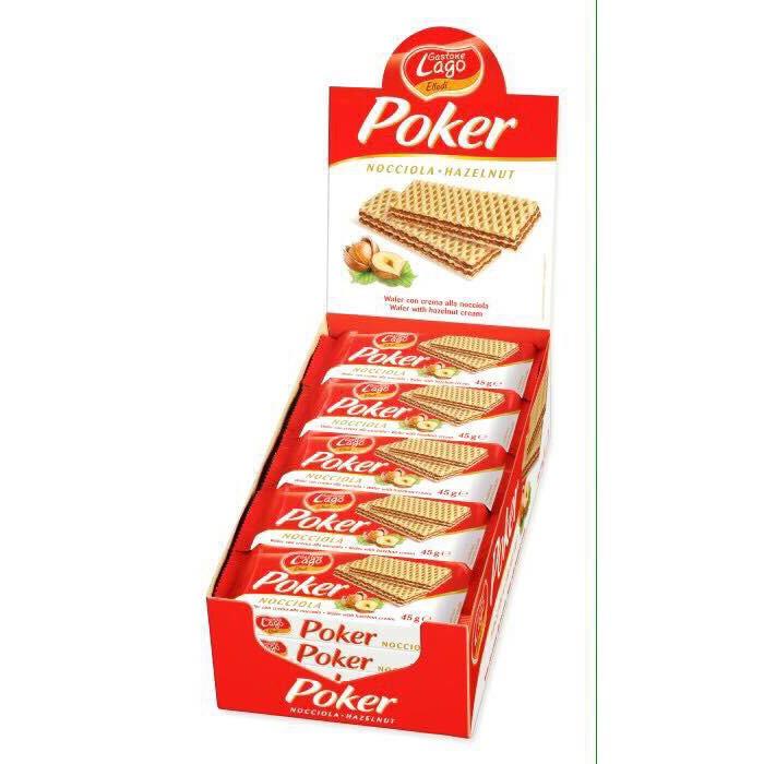 Hộp 20 Bánh xốp Poker 45g