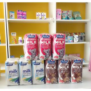 Sữa tươi Pauls milk các vị Dâu, Socola, nguyên kem (thùng 24 hộp)