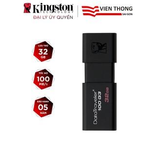 USB Kingston DT100G3 16GB / 32GB / 64GB nắp trượt tốc độ upto 100MB/s – Hãng phân phối chính thức