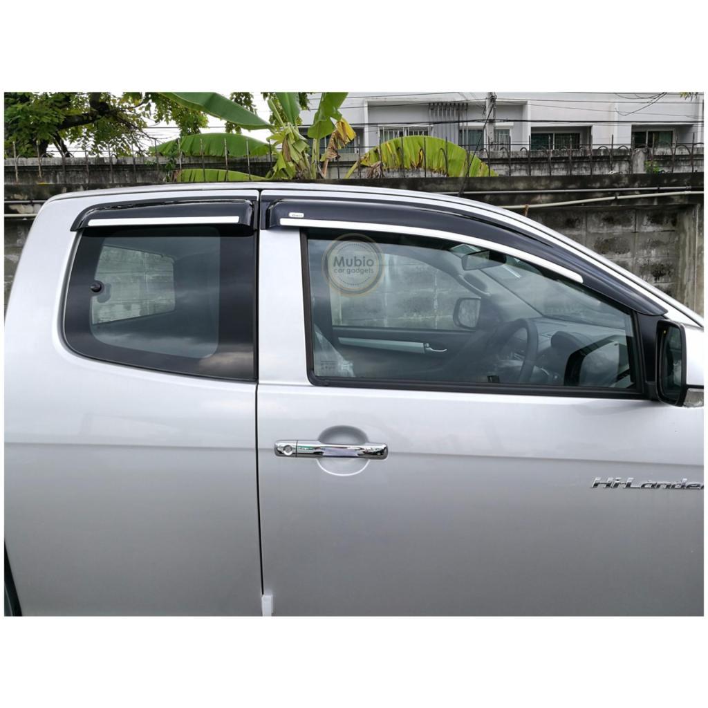 อะไหล่รถยนต์ TGR กันสาดโมฉีดขอบโครเมี่ยม สำหรับชุดแต่ง ออนิว อีซูซุ ดีแม็ก โอเพ่นแค็บ 2 ประตู All New ISUZU D-MAX Smartะ