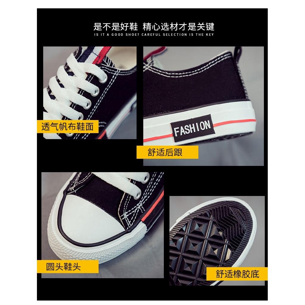 Giày vải canvas thời trang phong cách Hàn Quốc cho nữ