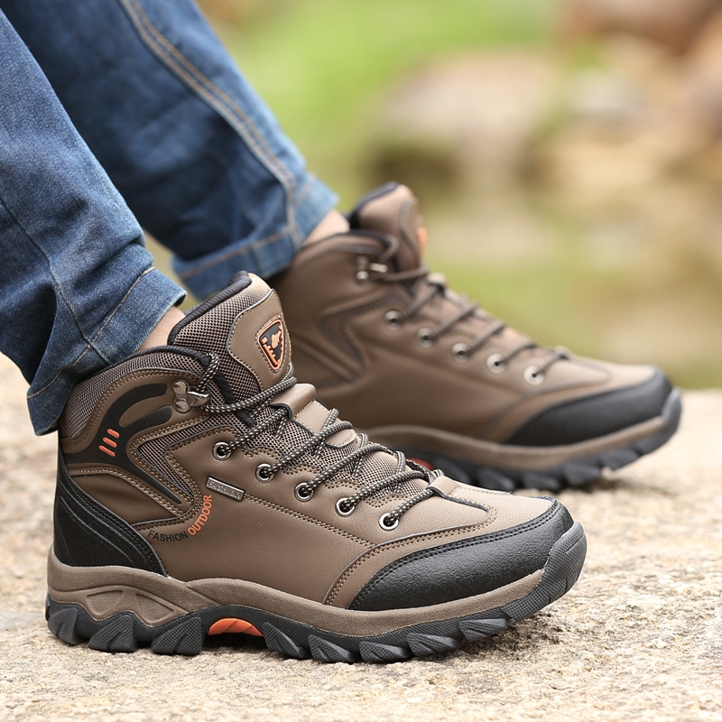 Men's Shoes Outdoor Hiking Shoes Comfortable Breathable High-top Shoes
