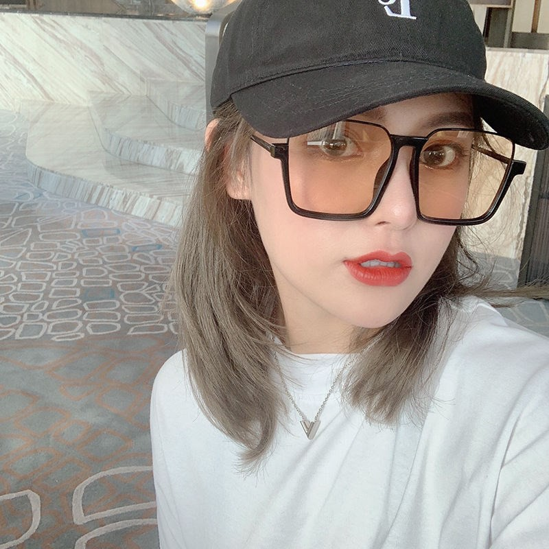 Wide Face Sunglasses Big Face Suitable Sunglasses Summer Sunscreen Display Small Polar Lens Female Model Driving With Fa
