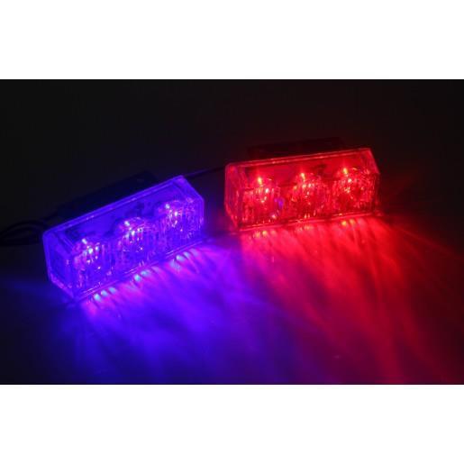 Cặp đèn chớp xanh đỏ xe máy K2 12V ( giá 1 bộ )