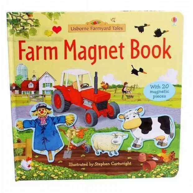SÁCH NAM CHÂM - USBORNE - FARM MAGNET BOOK