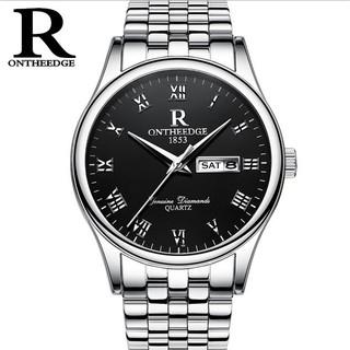 Đồng hồ nam dây thép Ontheedge 020 (fullbox, trắng-đen) thumbnail