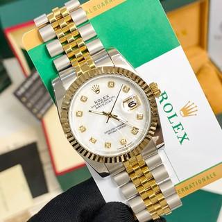 [Máy cơ] Đồng hồ cơ nam Rolex automatic mặt đính viền băm chống nước DH561 - shop228
