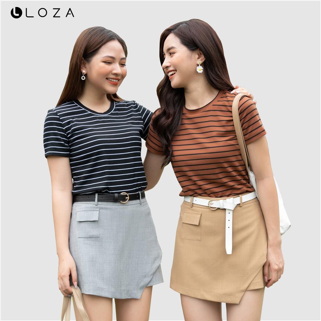 Áo phông nữ kẻ ngang LOZA PT5001