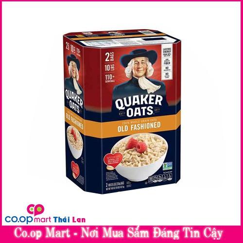 Thùng yến mạch quaker oats Mỹ old fashion 4.5kg