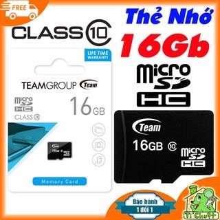 [Mã ELFLASH5 giảm 20K đơn 50K] [Chính Hãng Team] Thẻ nhớ 16Gb MicroSDHC Class10 Bảo Hành 2 Năm