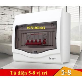 Tủ điện âm tường gài aptomat - tủ cài át 2-4 vị trí, 6-8 vị trí, 9-12 vị trí, hộp gài át -TBĐ thumbnail