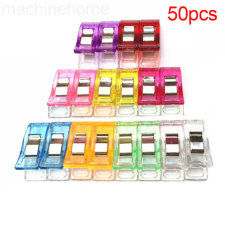 50pcs Candy Color Clothes Pins Pegs Hanging Clothespin Photo Clips Random Color machinehome