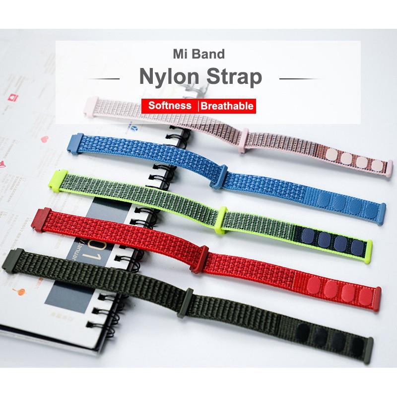 Dây Đeo Sợi Nylon Cho Đồng Hồ Thông Minh Xiaomi Mi Band 3 4 5 NFC Miband 3 4 5