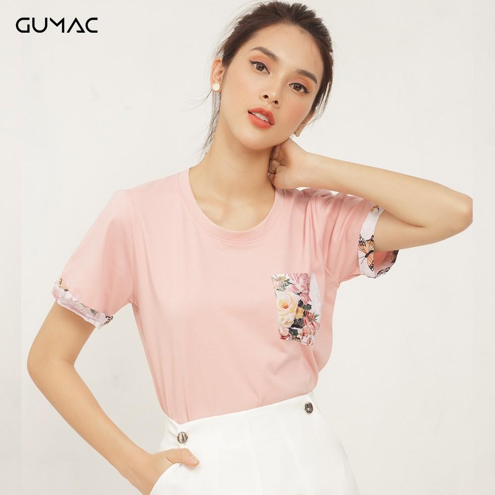 Áo thun phối túi hoa GUMAC ATA411