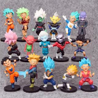 Mô Hình 16 Nhân Vật Trong Anime Dragon Ball Super Cao 8cm