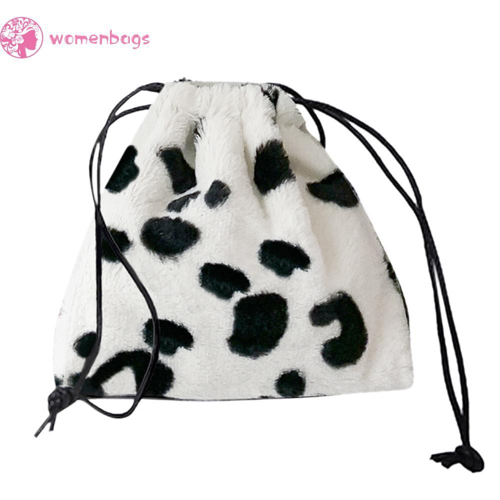 Túi đeo chéo Dây Rút Hoạ Tiết Bò Sữa