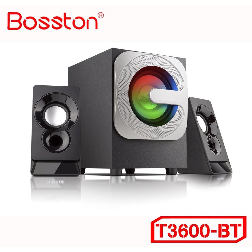 Loa Vi Tính Để Bàn Bosston T3600 Loa Máy Tính Laptop PC RGB 2.1 Kết Nối Bluetooth Điện Thoại Nghe Nhạc Bass hay!
