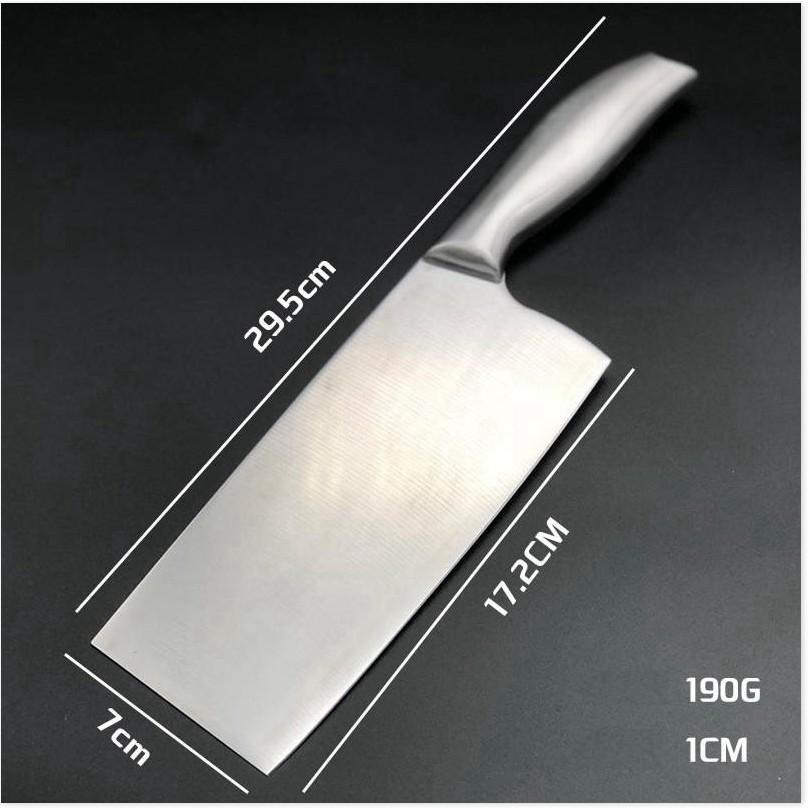 Dụng cụ nhà bếp  GIÁ VỐN]  Bộ 3 dao thép cứng và sáng bóng, chặt xương chặt thịt gà không lo mẻ dao 8329