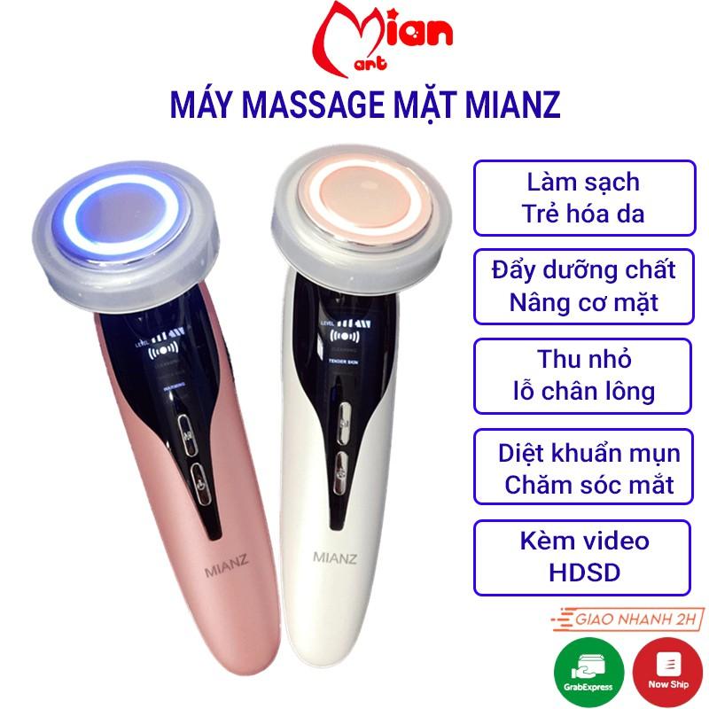 Máy massage mặt cầm tay ion- máy điện di tinh chất - mát xa nâng cơ đẩy dưỡng chất - chăm sóc da - MIAN GROUP