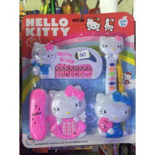 Đồ chơi đàn điện thoại dùng pin Hellokitty